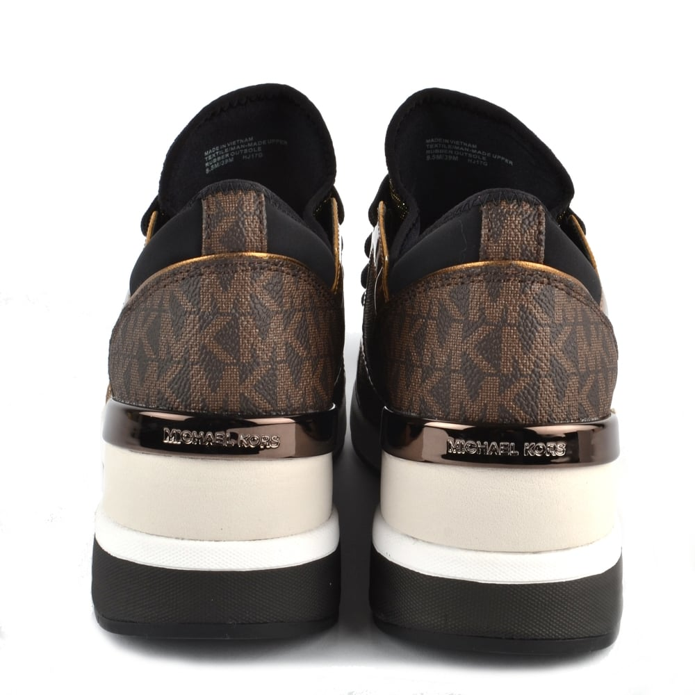 ceb202d513b8a MICHAEL MICHAEL KORS Scout Bronze Leather and Logo Trainer