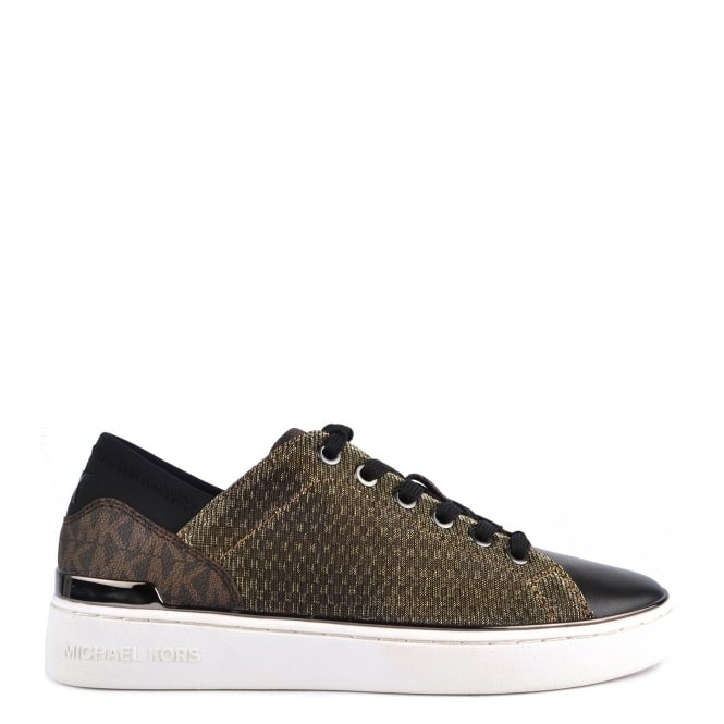 MICHAEL by Michael Kors Scout Sneaker Bronze Knitted Logo Trainer