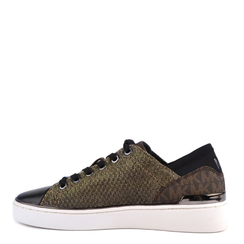2a2b54eb3464a MICHAEL MICHAEL KORS Scout Sneaker Bronze Knitted Logo Trainer