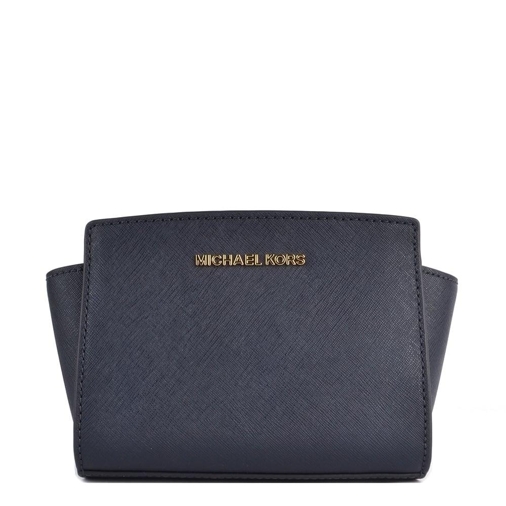 1423cb9778 MICHAEL by Michael Kors Selma Mini Admiral Saffiano Messenger Bag