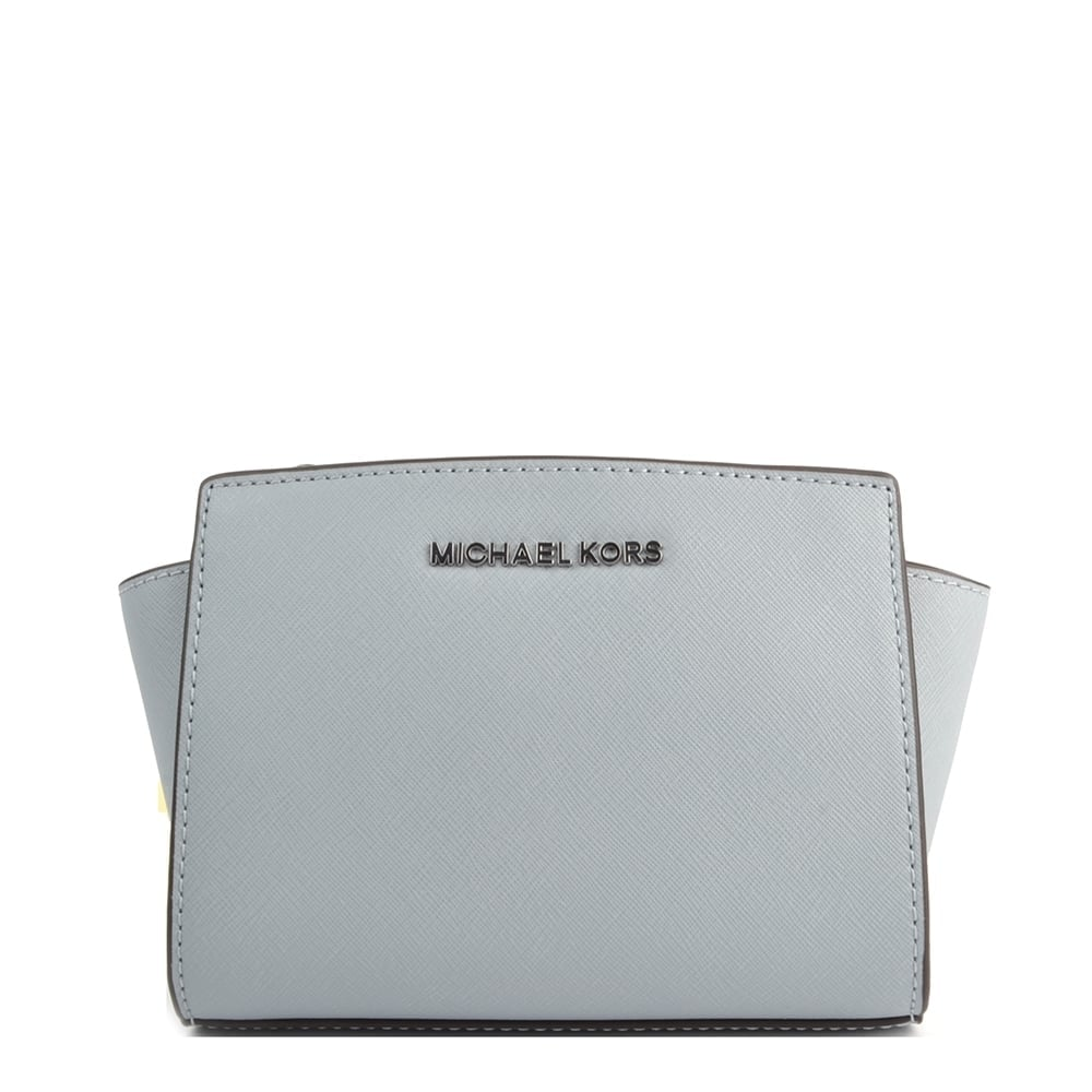 9d631537ba57 MICHAEL by Michael Kors Selma Mini Dusty Blue Saffiano Messenger Bag