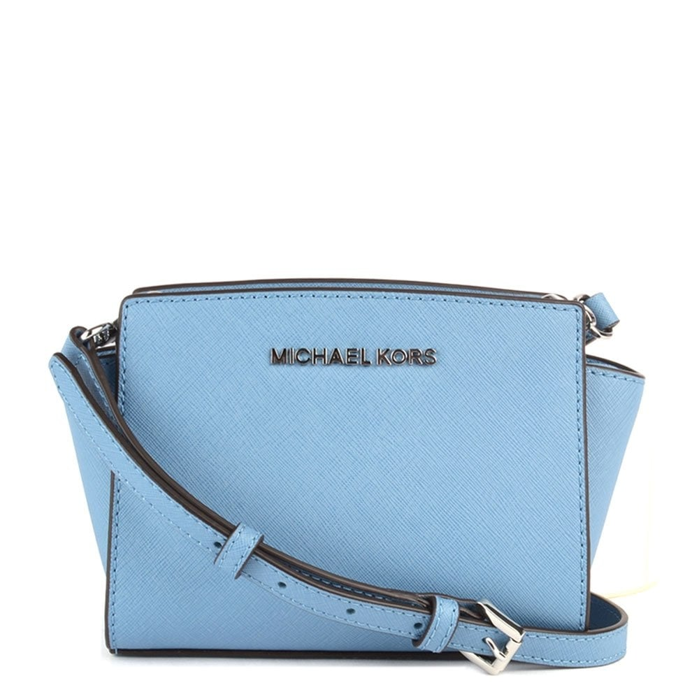 11aea538e199 MICHAEL by Michael Kors Selma Mini Sky Saffiano Messenger Bag ...