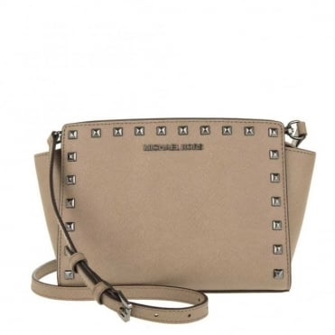 Selma Stud Dark Dune 'Beige' Medium Messenger