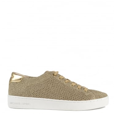 Skyler Pale Gold Knit Trainer