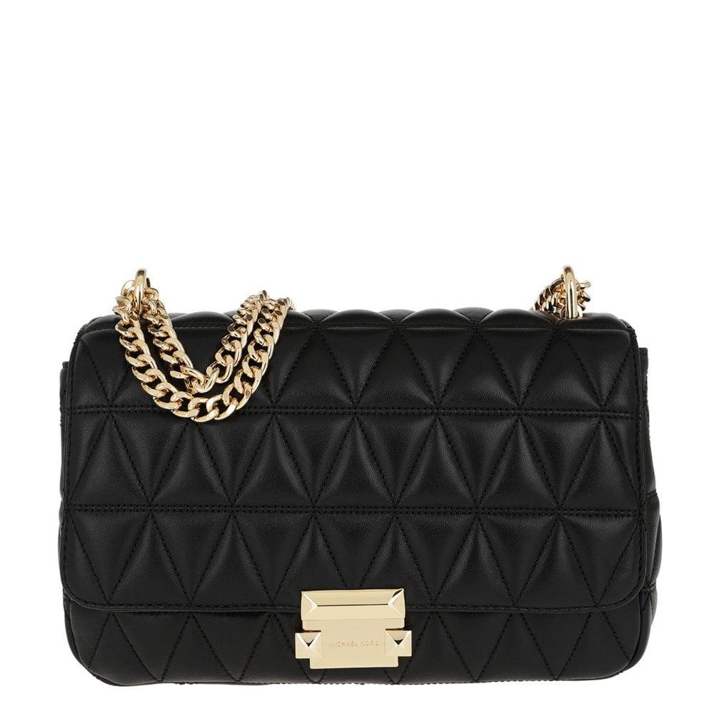 ca7d0f6506f3 MICHAEL by Michael Kors Sloan Black Large Quilted Shoulder Bag