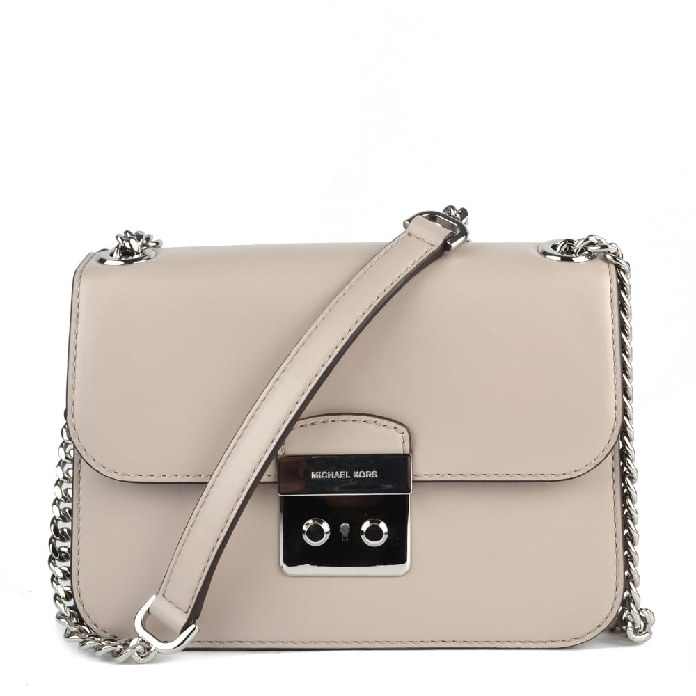 efffb9e58239 MICHAEL by Michael Kors Sloan Editor Cement Grey Crossbody Bag