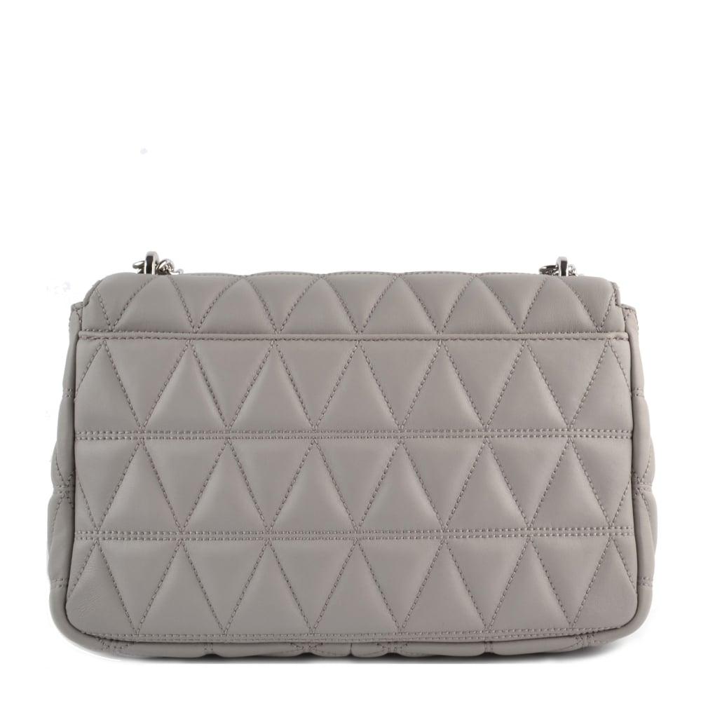 fd1189da0276 MICHAEL MICHAEL KORS Sloan Pearl Grey Large Quilted Shoulder Bag