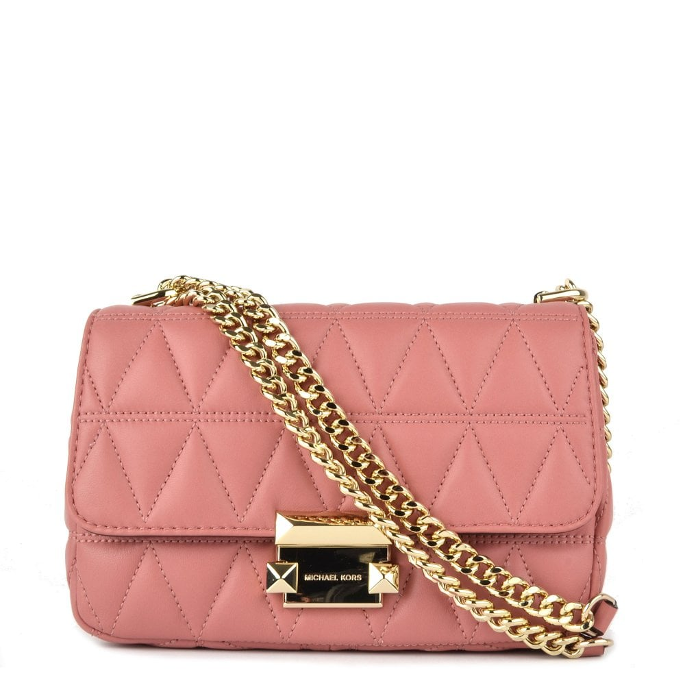 2a3097ce31bb MICHAEL by Michael Kors Sloan Small Rose Chain Shoulder Bag