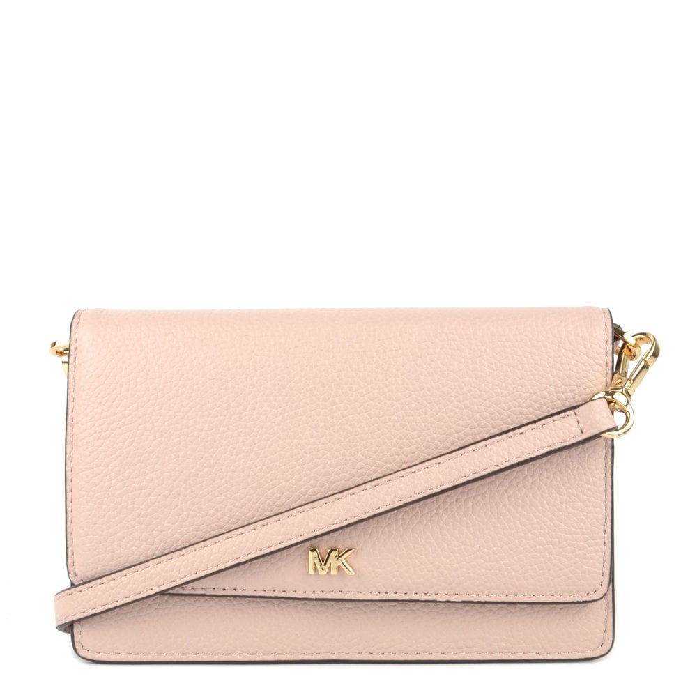 Soft Pink Leather Convertible Crossbody Bag