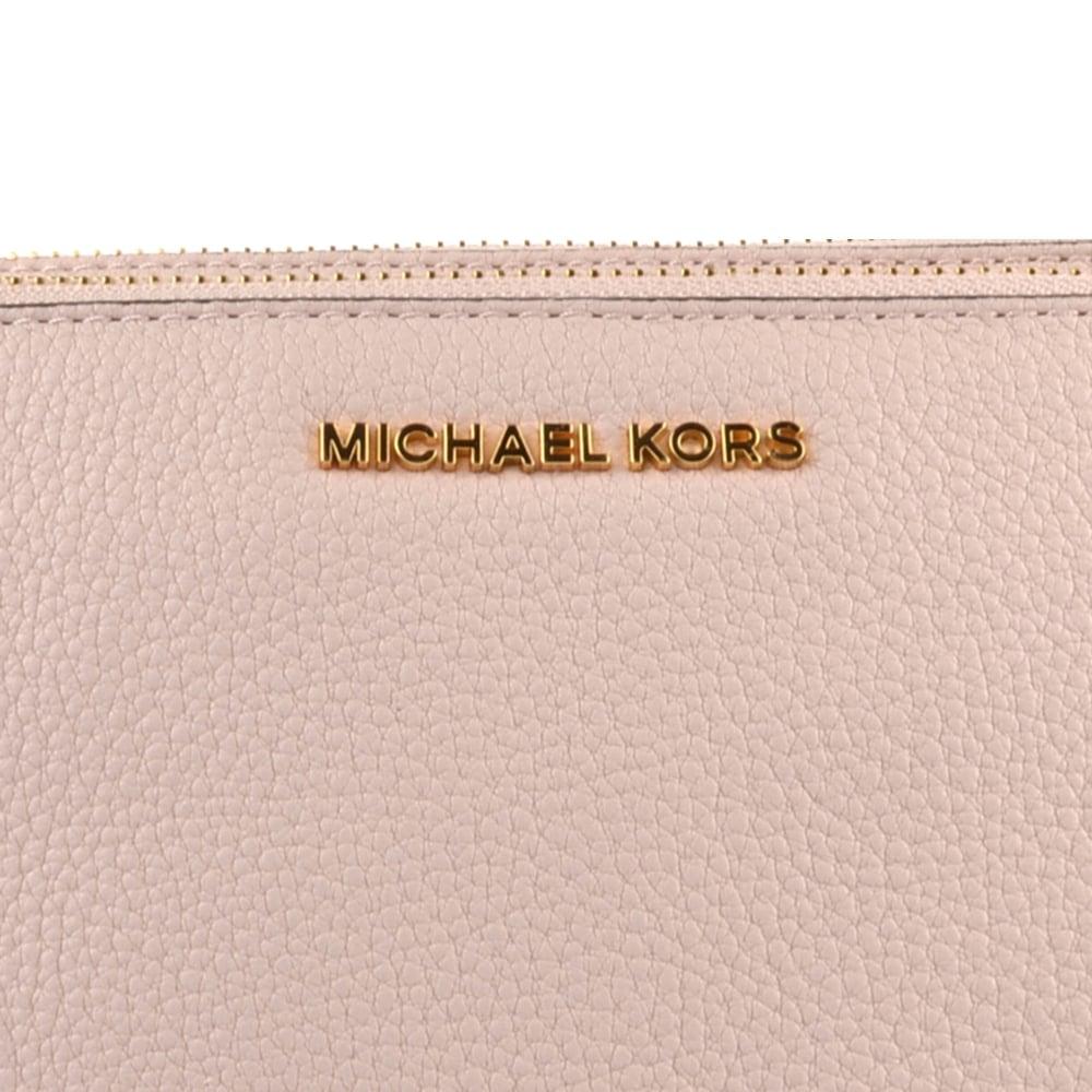 MICHAEL MICHAEL KORS Soft Pink Leather Double Zip Crossbody Bag 38ef6c333e40c
