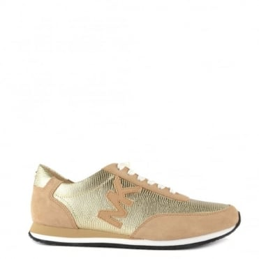 Stanton Metallic Pale Gold Trainer