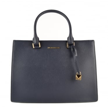 Sutton Admiral 'Navy' Leather Gusset Satchel