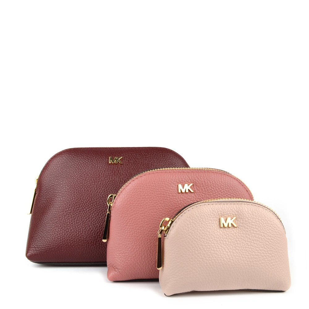 14bcf0b497fd MICHAEL by Michael Kors Tri-Color Pebbled Leather Travel Pouch Trio ...