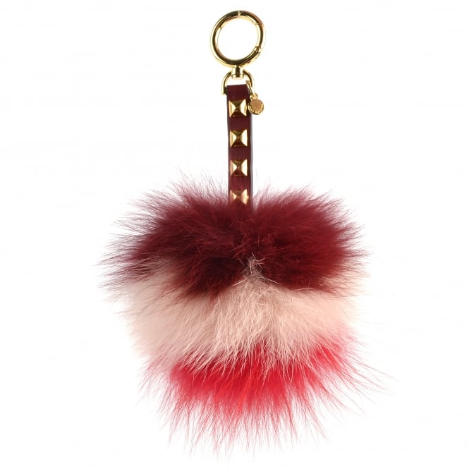 MICHAEL by Michael Kors Tri-Colour Pom Pom Fur Large Keyring Charm