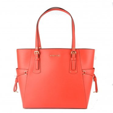 62c110344c74 Voyager Small Coral Leather Tote Bag. MICHAEL by Michael Kors ...