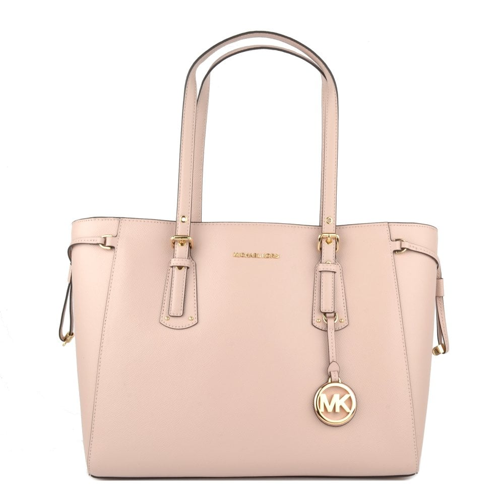 f63ae60a1b87 MICHAEL by Michael Kors Voyager Soft Pink Leather Medium Top Zip Tote Bag
