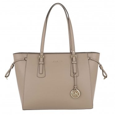 d305372f2ccf Voyager Truffle Leather Medium Top Zip Tote Bag. MICHAEL by Michael Kors ...