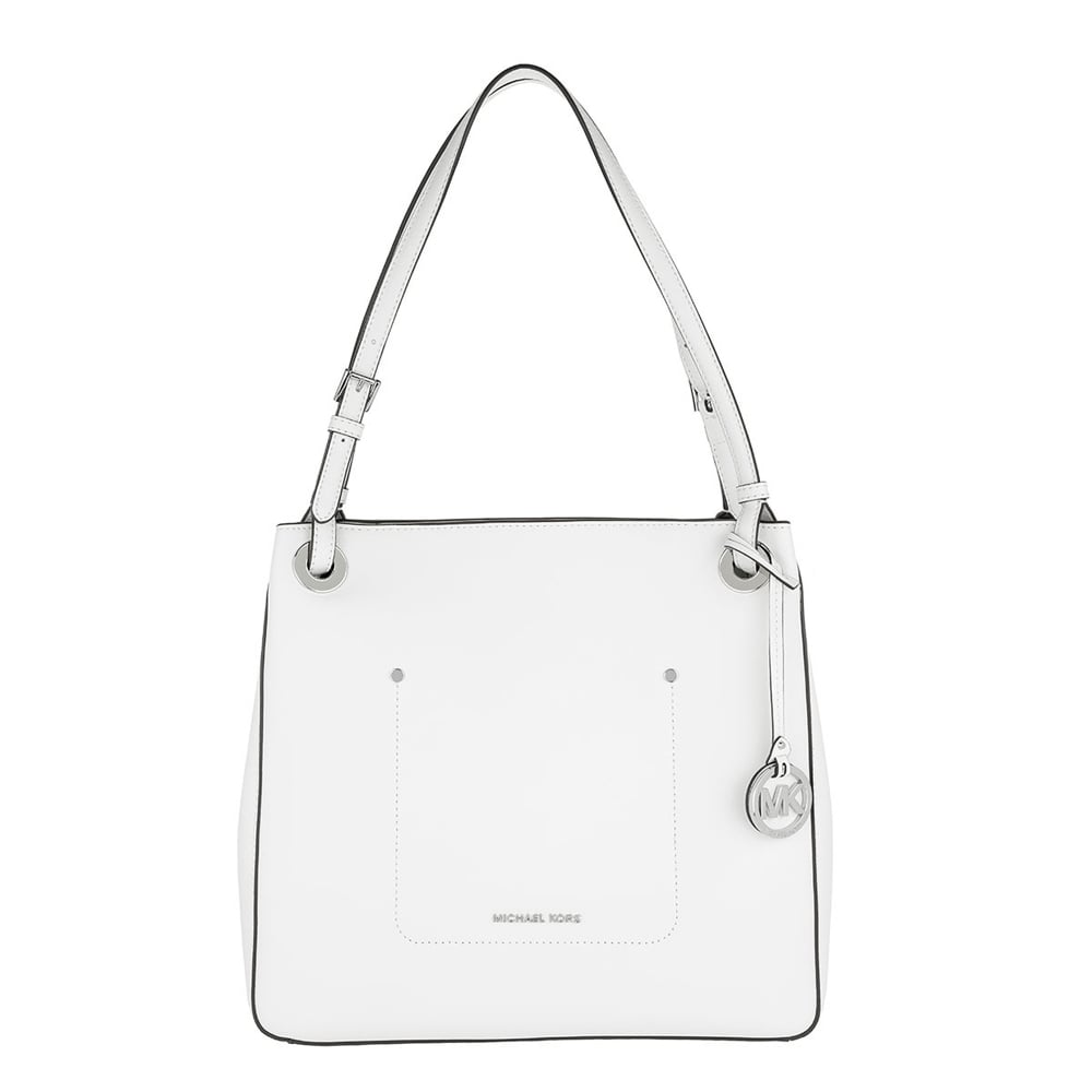 2d38cadfacc2 MICHAEL by Michael Kors Walsh Optic White Leather Medium Tote Bag