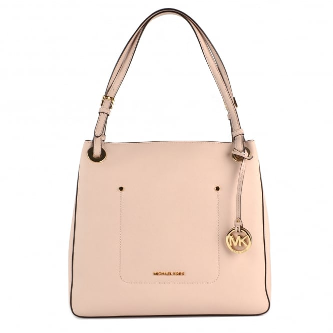 MICHAEL by Michael Kors Walsh Soft Pink Leather Medium Tote Bag