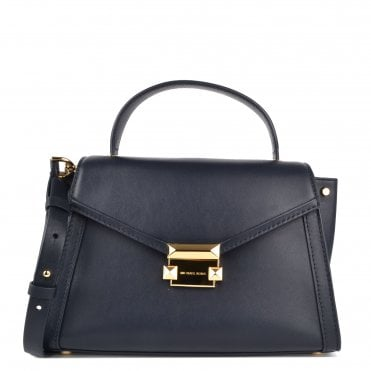 Whitney Admiral Medium Leather Satchel