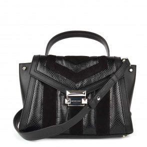 6254bebc6d86 Whitney Small Black Leather   Suede Satchel. MICHAEL by Michael Kors ...