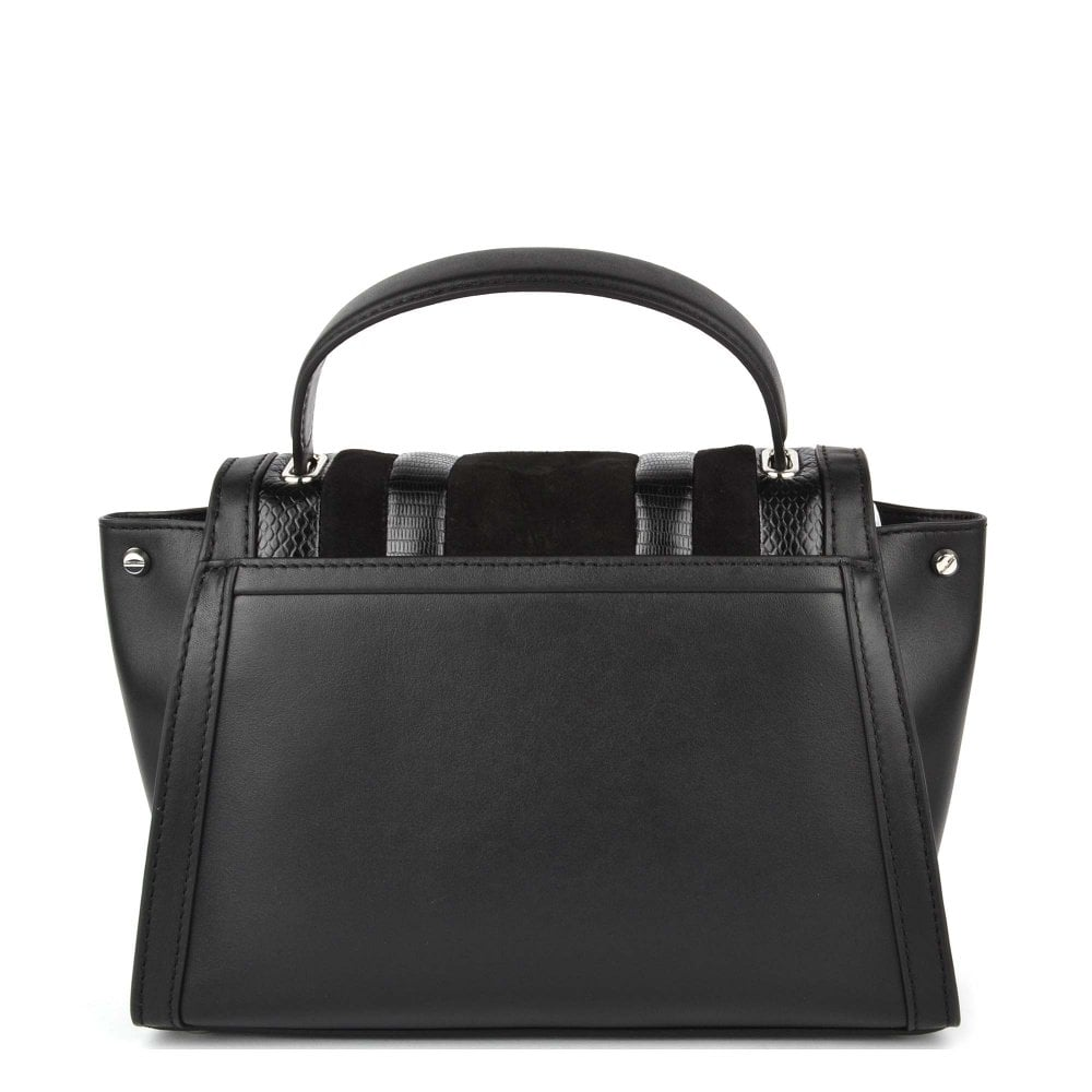 3acd747b633401 Shop The Michael Kors Whitney Small Black Leather & Suede Satchel