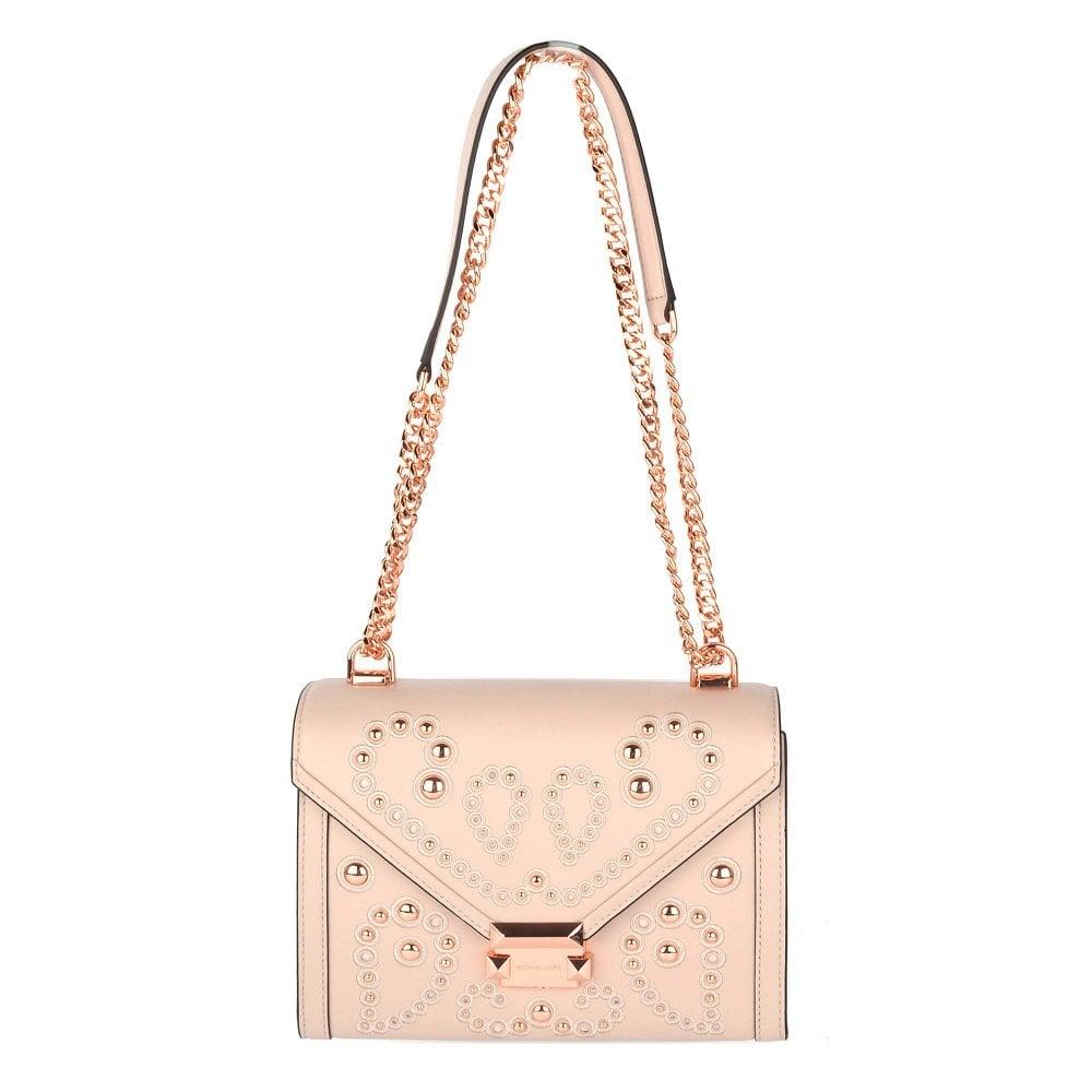 467cbdf45690 MICHAEL by Michael Kors Whitney Soft Pink Medium Embellished Satchel