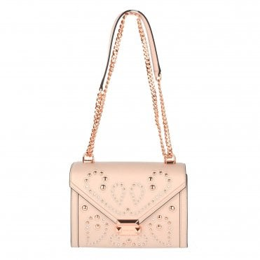 Whitney Soft Pink Medium Embellished Satchel