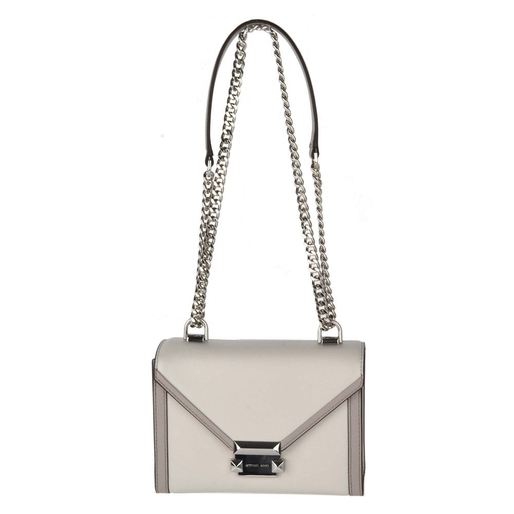 Whitney Two Tone Small Leather Shoulder Bag