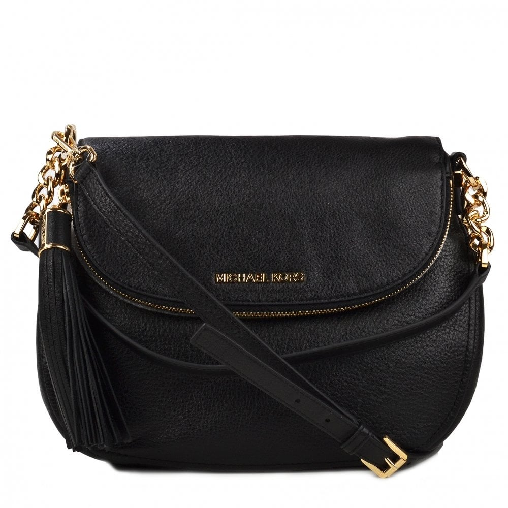 4b3a96ddb18a ... where to buy michael by michael kors bedford black tassel convertible  shoulder bag 82384 5b5c6 ...