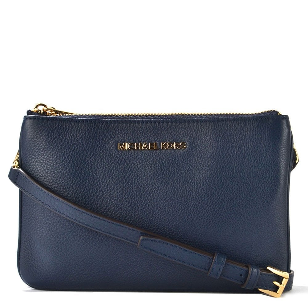 f94a887e9ad514 MICHAEL by Michael Kors Bedford Navy Gusset Crossbody Bag