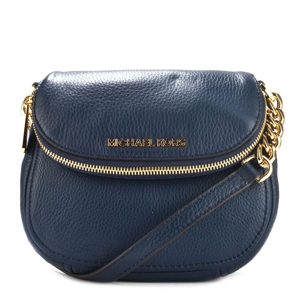 421afd44375b MICHAEL by Michael Kors Bedford Navy Leather Flap Crossbody - Women ...