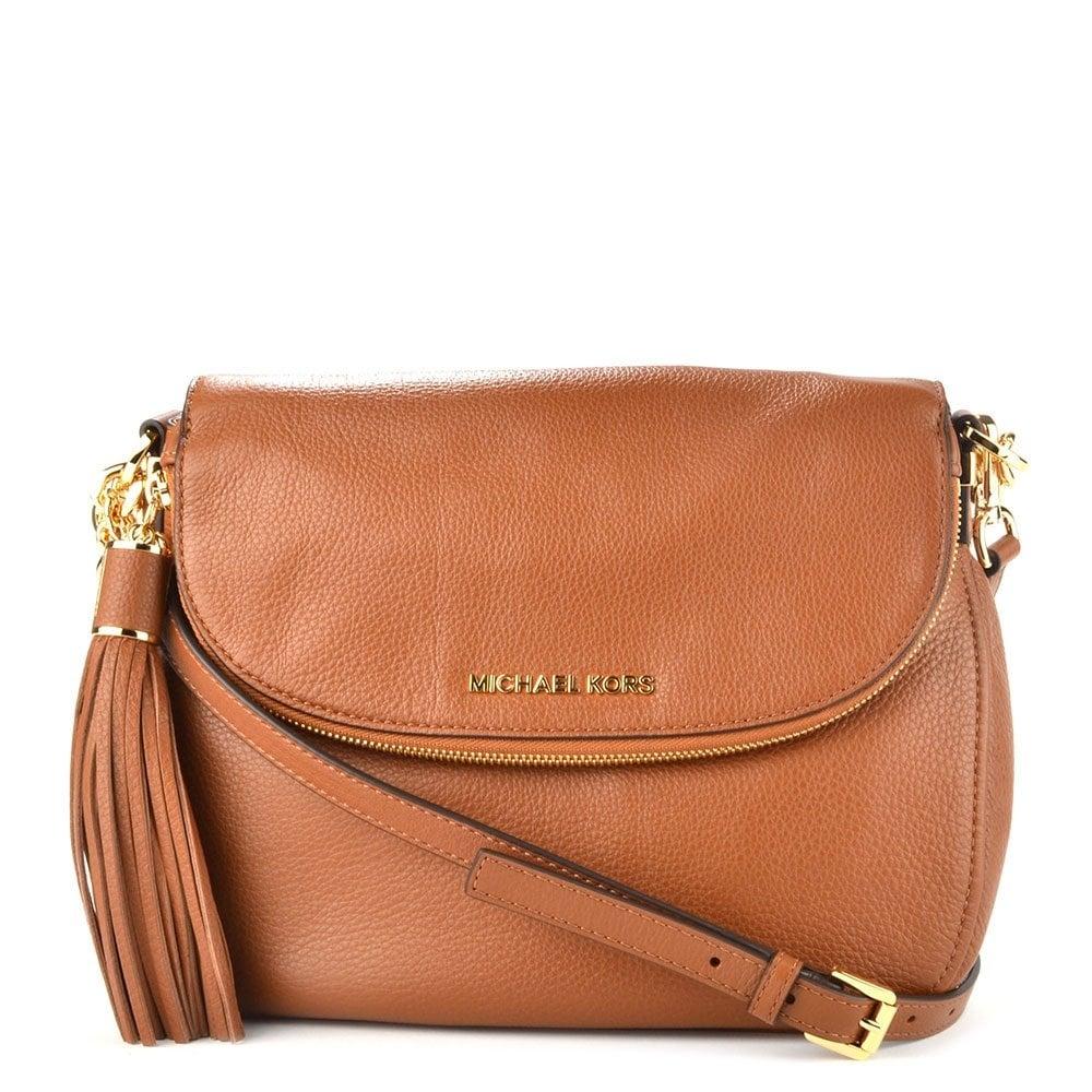 800d70bf24d4 MICHAEL by Michael Kors Bedford Tan Tassel Convertible Shoulder Bag ...