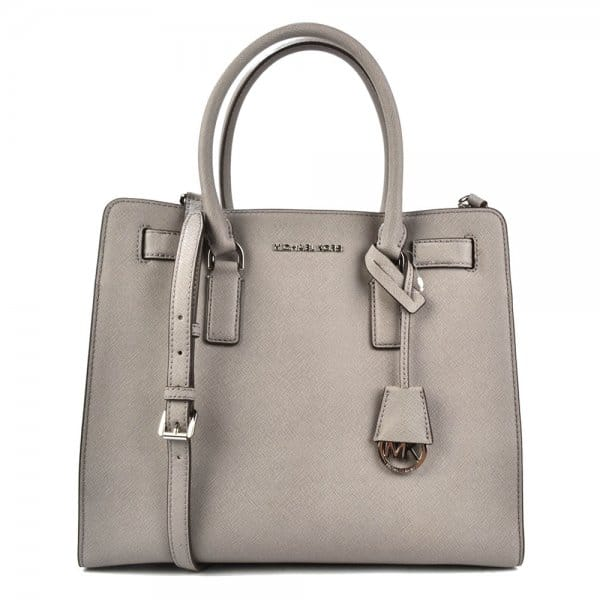 michael michael kors dillon pearl grey leather tote bag rh brandboudoir com