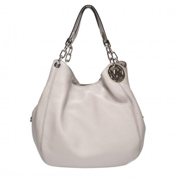 ac7cd606706d MICHAEL by Michael Kors Fulton Hobo Pearl Grey Leather Shoulder Bag ...
