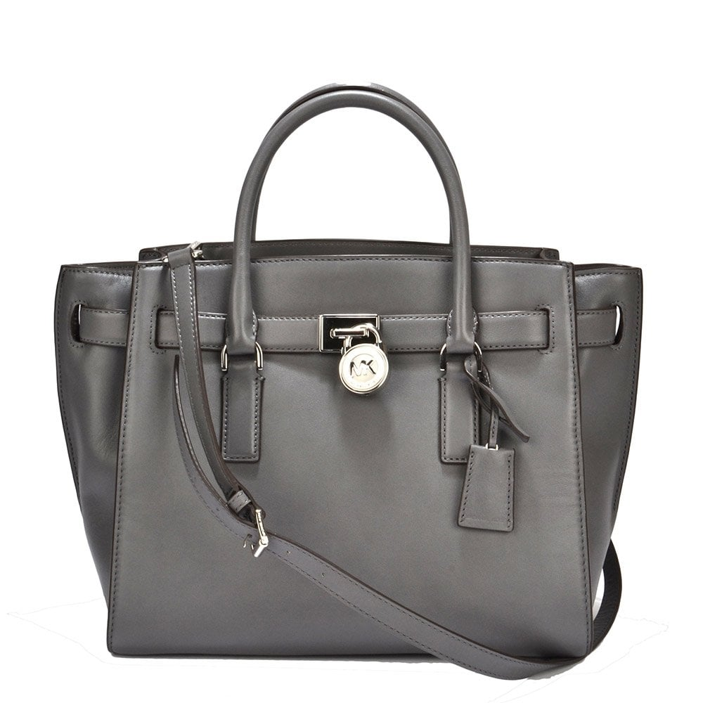 6d1aac57ffd9 MICHAEL by Michael Kors Hamilton Heather Grey Large Leather Traveler