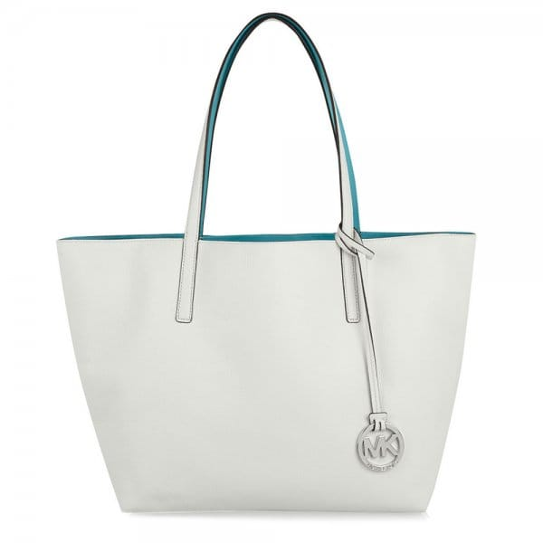 9ba2ed210694 MICHAEL by Michael Kors Izzy White Large Reversible Tote - Women ...