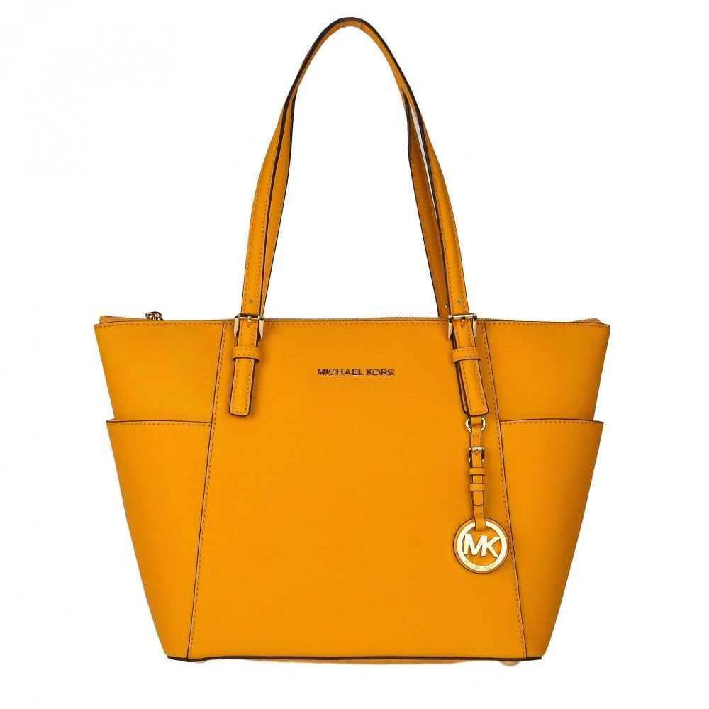 671654c28d21e5 MICHAEL by Michael Kors Jet Set Sun Saffiano Top Zip Tote