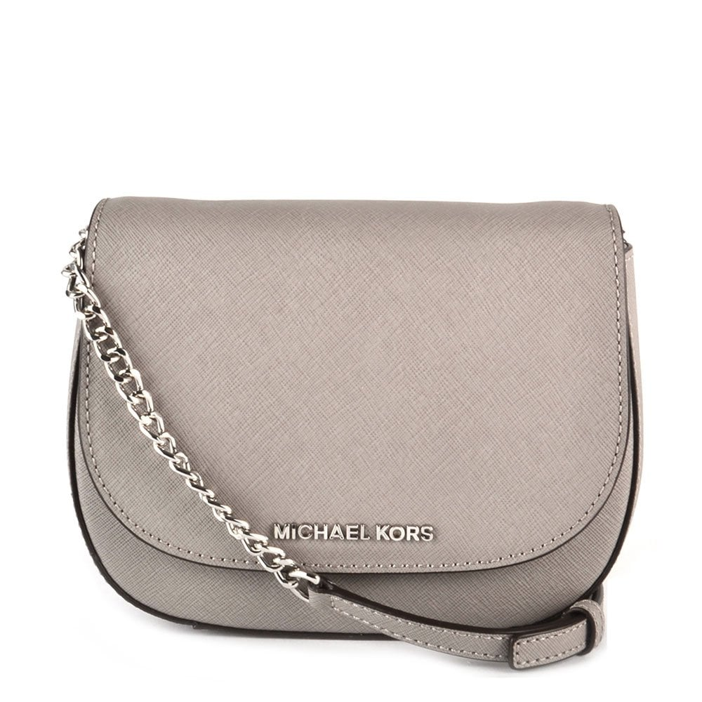 83b2c4fc6411 MICHAEL by Michael Kors Jet Set Travel Pearl Grey Small Crossbody Bag