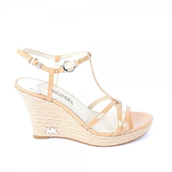 84b10efa14a MICHAEL by Michael Kors Kami Nude Wedge Ankle Strap Sandal