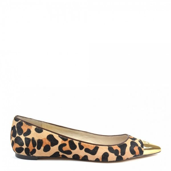 647350bca169 MICHAEL by Michael Kors Paxton Leopard Print Toe Pointed Ballet Pumps