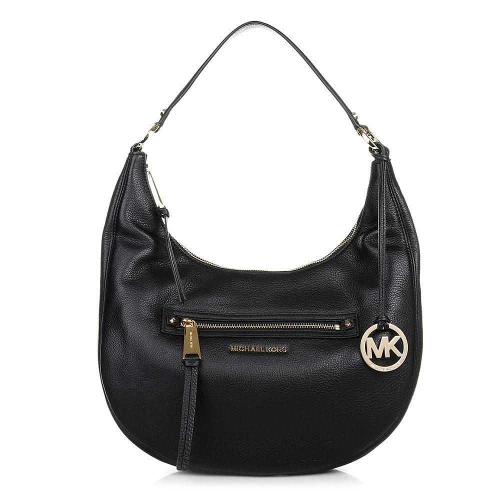 4e6d8e2bb6fd MICHAEL by Michael Kors Rhea Black Large Zip Shoulder Bag