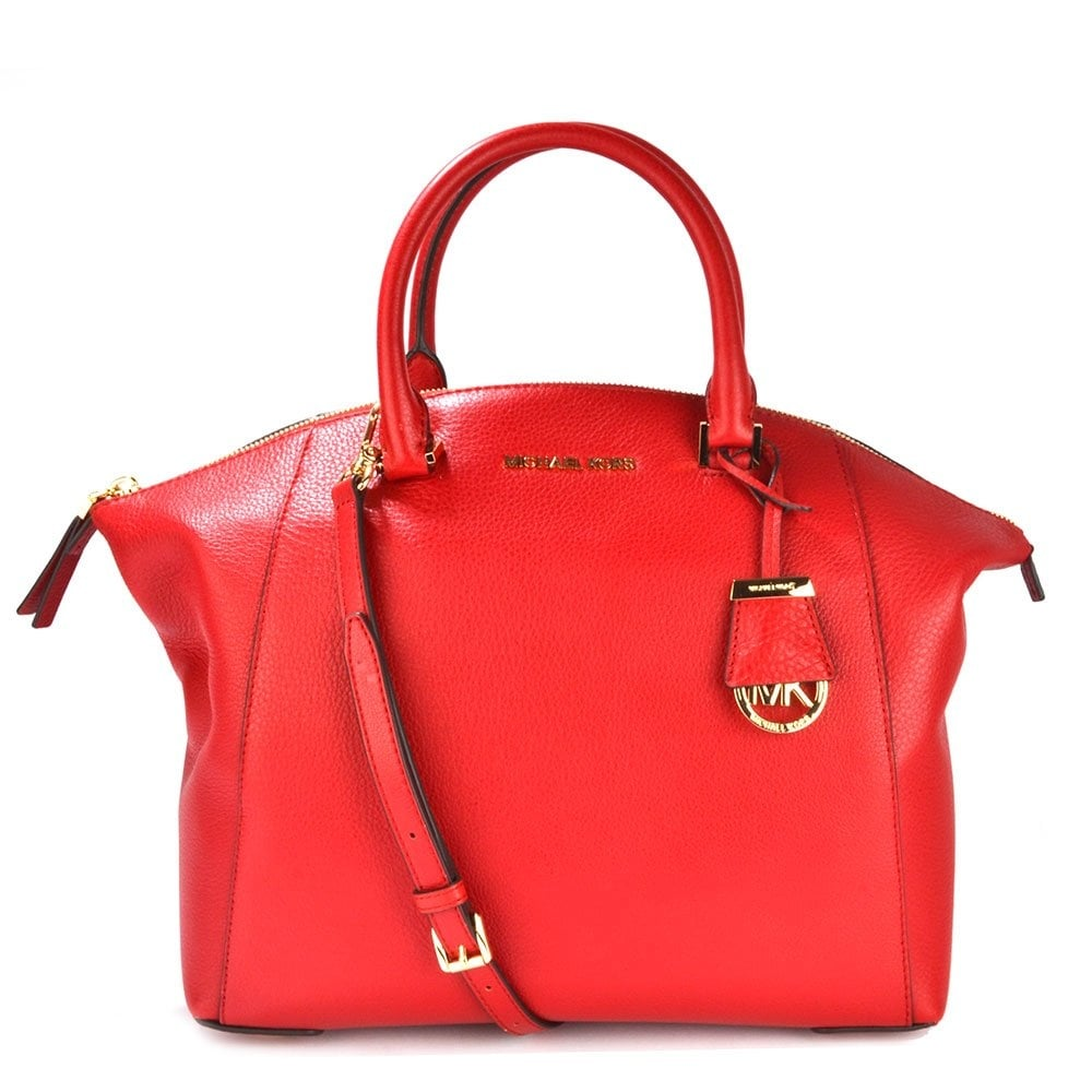 d439387fbb MICHAEL by Michael Kors Riley Red Leather Large Satchel - Women from ...