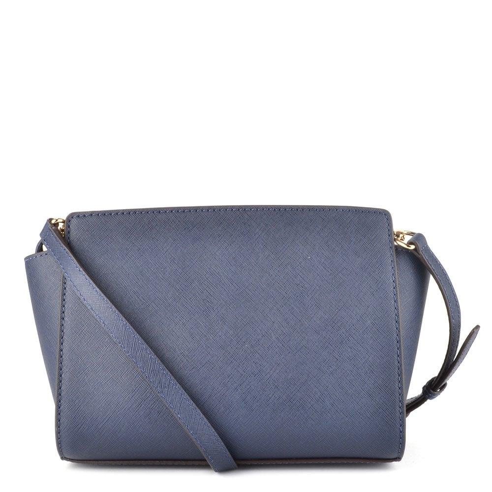2d95ef728d ... Saffiano Messenger Selma Medium Navy Leather Messenger Bag ...