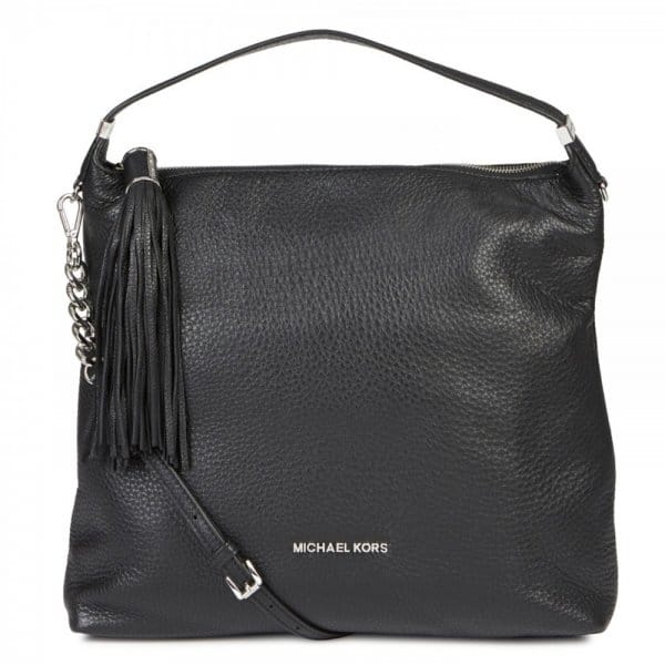 6f7f0bf86cec MICHAEL by Michael Kors Weston Black Grained Leather Hobo Bag ...