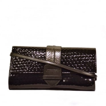 Her Joy Division Black Clutch Bag