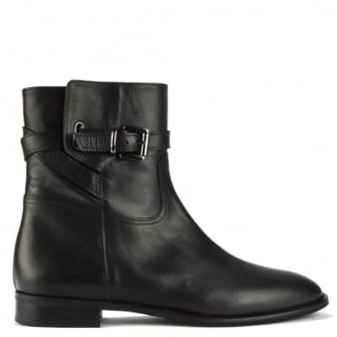 Siena Black Italian Leather Ankle Boot
