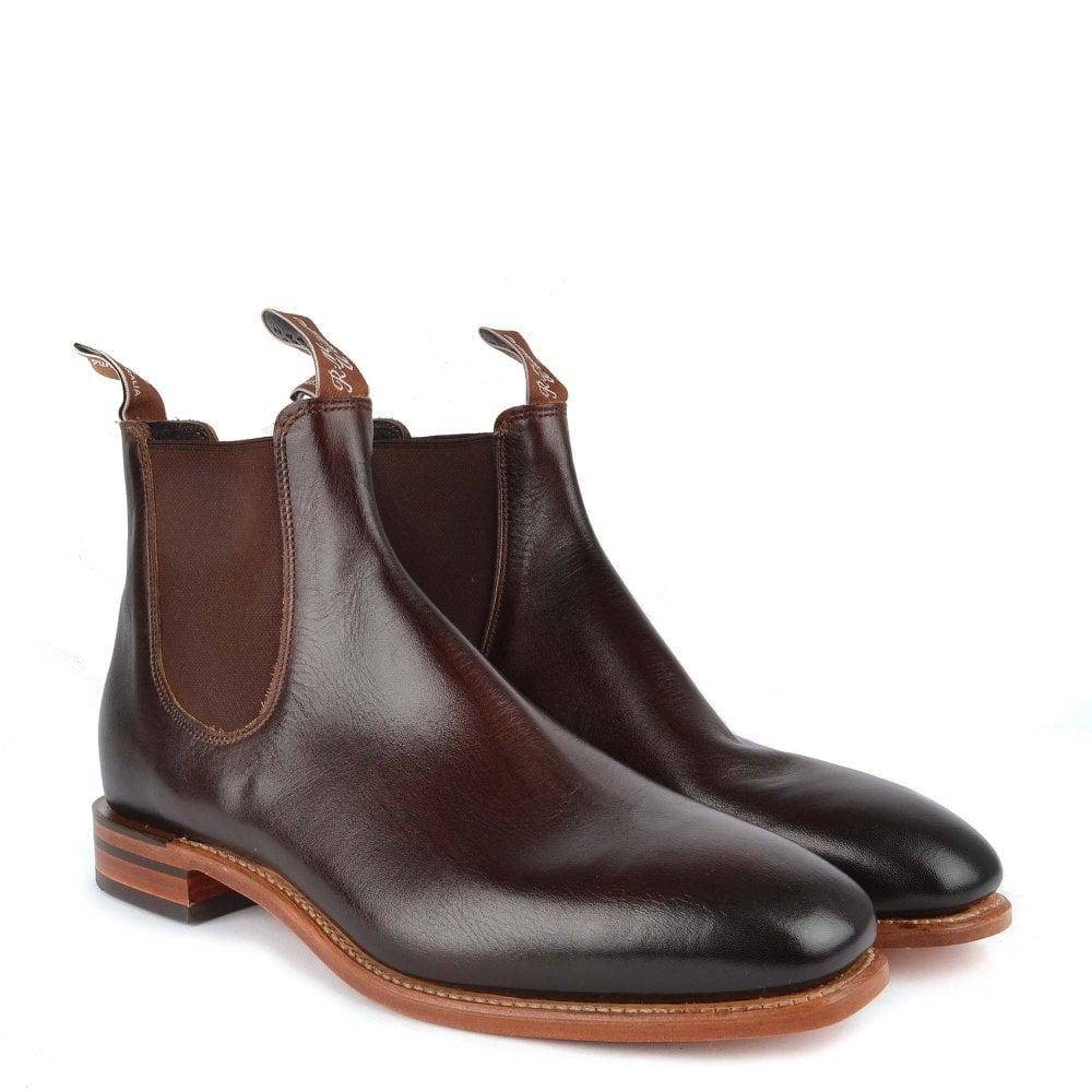 Men's Chinchilla Bordeaux Leather Chelsea Boot