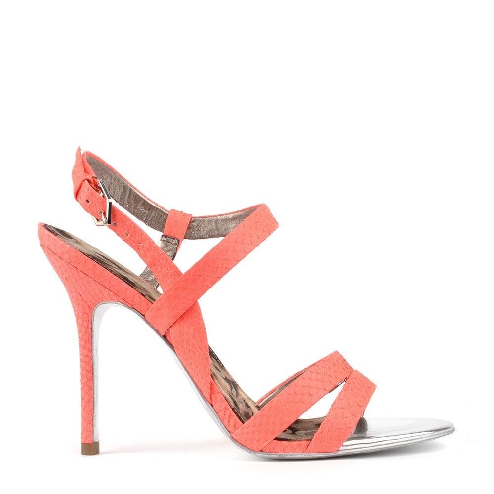 5a1d8637694c6 Sam Edelman Abbott Neon Coral Heeled Sandal