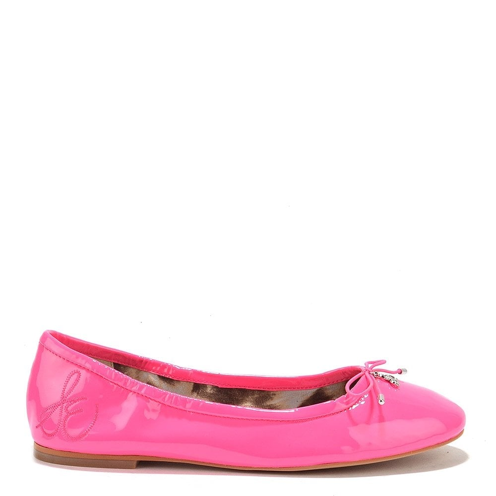 Felicia Pink Patent Leather Ballet Flats